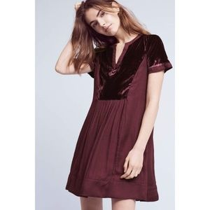 NWT Anthropologie Velvet Tunic Dress